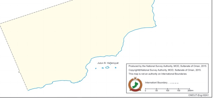Authorized and Official Map of the Sultanate of Oman